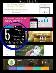 Here are 5 easy ways to earn money and rewards with your Fitbit fitness tracker. Good health and dollar bills! Holla! - Exercise pays off! - Sisterhood of the Sensible Moms