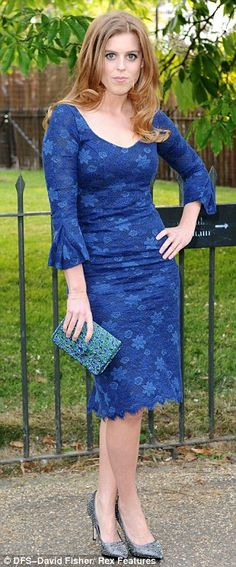 HRH Princess Beatrice of York, the eldest daughter of Prince Andrew, Duke of York and Sarah Ferguson, Duchess of York