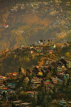Aerial view of Darjeeling, a popular hill station in India. – Jamie Perry Aerial view of Darjeeling, a popular hill station in India. Aerial view of Darjeeling, a popular hill station in India. Bhutan, Places To Travel, Places To See, Travel Destinations, Places Around The World, Around The Worlds, Beautiful World, Beautiful Places, Concours Photo