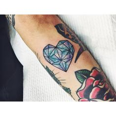 Pin for Later: 50 Heart Tattoos So Cute You Can't Handle It Family and Flowers
