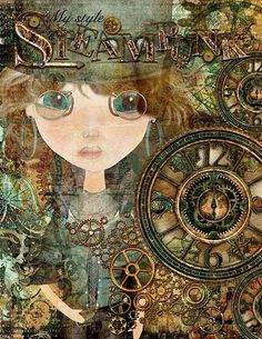 made by Beedee with Wild Wild West kits of Rucola Designs Digital Collage, Collage Art, Digital Art, Mixed Feelings, Mix Media, Altered Books, Wall Clocks, Wild West, Surrealism