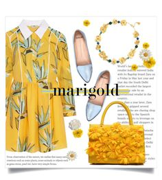 """""""Marry me marigold"""" by brynhawbaker ❤ liked on Polyvore featuring Fendi, Mollini, Tory Burch, Gucci and Cara"""