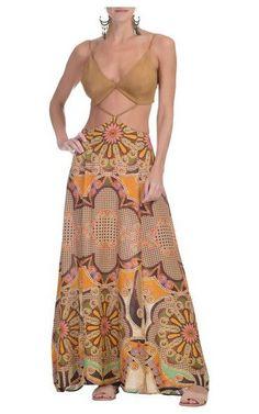Vestido longo Nova Olinda - marrom