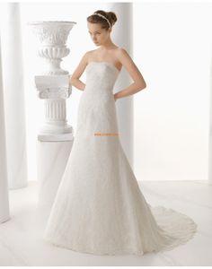 Délka dvorní Krajka Zip Svatební šaty 2014