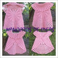I love this circular bolero! Crochet Baby Jacket, Crochet Baby Sandals, Crochet Cardigan, Love Crochet, Beautiful Crochet, Crochet Lace, Knitted Baby Clothes, Crochet Clothes, Crochet Circles