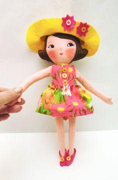 Art Doll Pattern PDF DIY  Doll  Girl Ginger   por ArtistaToscana, $10,00