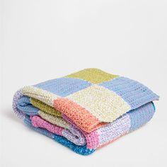 Manta crochet cuadros mantas cama zara home espa a - Zara home online espana ...