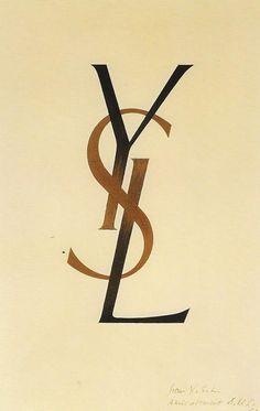 YSL logo, 1961.