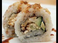 How to Make Sushi - Spicy Scallop Crunch Rolls