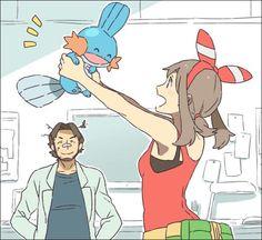 Oh my gosh! This feels like when i picked mudkip :) Pokemon Rosa, Cute Pokemon, Lugia, Mudkip, Hoenn Region, Pokemon Regions, Pokemon Omega Ruby, Pokemon Starters, Pretty Art