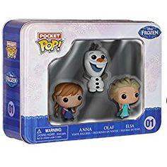 Funko Frozen Pocket Pop! Mini Vinyl Figure Tin Featuring Elsa, Anna, And Olaf
