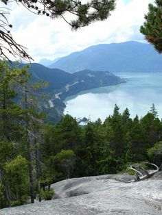 Took this shot of the view of the Sea to Sky Hwy from the top of The Cheif.  Squamish, BC, Canada.