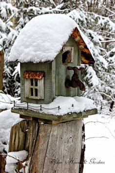 23 DIY Bird Feeder and Bird Houses Ideas to Cherish your Backyard - Diy Craft Ideas & Gardening Decorative Bird Houses, Bird Houses Diy, Bird House Kits, Diy Bird Feeder, Kit Homes, Winter Scenes, Beautiful Birds, Home And Garden, Garden Modern