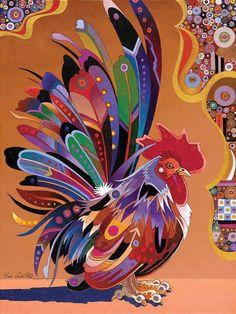 Colourful cockerel