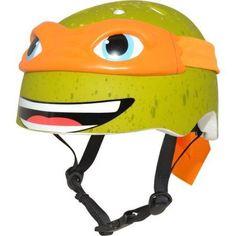 Nickelodeon Teenage Mutant Ninja Turtles Michelangelo 3D Bike Helmet, Child, Green