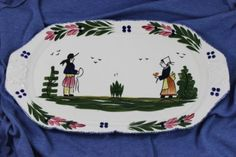 Blue-Ridge-China-Chocolate-Tray-Serving-Plate-Platter-French-Peasant-15-1-4