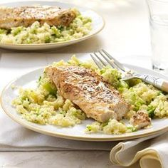Balsamic Chicken with Broccoli Couscous. Even the couscous haters in the family loved it.