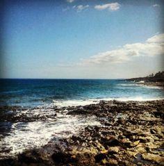 This is Africa. #Shakira #Sea #Lanzarote #Beach #Sea #Ocean #Blue #Peace #Horizon #Salt