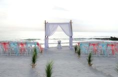 One of our favorite locations for a perfect Florida beach wedding ... Sunset Beach on Treasure Island