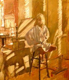 Ken Howard, Studio Model, Oil on canvas, size Ken Howard, Modern Art, Contemporary, Oil On Canvas, Canvas Size, Studio, Model, Painting, Idea Paint
