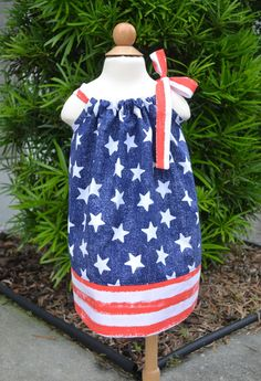 4th of July Pillowcase Dress  July 4th Dress by LilBambinaBoutique, $19.99