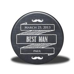 PERSONALIZED Best Man Gift - Mirror, Magnet, Bottle Opener or Pin - Chalkboard. $5.00, via Etsy.