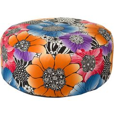 Missoni Home Sorrento Pallina Pouf - 159 - 159 (2,020 CAD) ❤ liked on Polyvore featuring home, furniture, ottomans, ottoman, multi, floral furniture, floral ottoman, missoni home and flower stem