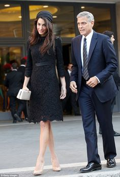 Demure: Earlier in the day the duo attended a seminar led by the Pope at the Paul VI Hall in Vatican City