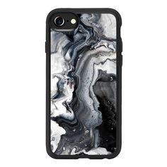 Black and white marble - iPhone 7 Case And Cover (€33) ❤ liked on Polyvore featuring accessories, tech accessories, iphone, phone cases, iphone case, iphone cases, black and white iphone case, apple iphone case, iphone cover case and marble iphone case