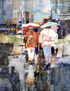Sandy Maudlin - LONDON BRIDGES - Transparent Watercolor