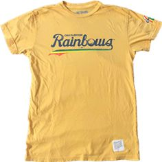 Sweet tee for the old Charleston Rainbows minor league team. Saw some tremendous players back in the day.