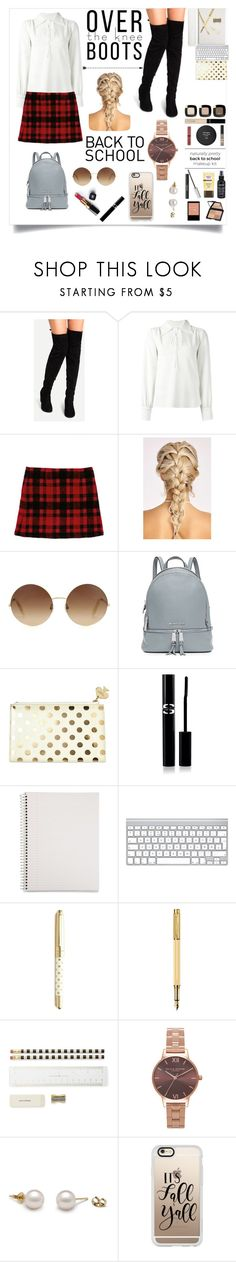 """Back to school"" by tuicat14 ❤ liked on Polyvore featuring See by Chloé, Victoria Beckham, MICHAEL Michael Kors, Kate Spade, Chanel, Sisley, Mead, Caran d'Ache, Olivia Burton and Casetify"