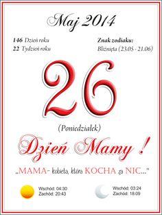 57. Kartka z kalendarza na DZIEŃ MAMY :)