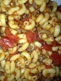 Goulash the way my mom and dad made it.  I have not had this in a long time!