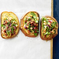 White Bean Arugula Crostini