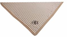 """This blanket is simple, soft and essential. 29"""" x 29"""". A Little Bit Of This Essential Stripe Blanket Earth. Click the image to get more information about the product, including personalization options, at our online store!"""
