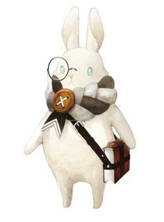 An educated rabbit. (artist unknown)
