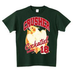 CRUSHER ルチノー オカメインコ カレッジロゴ   デザインTシャツ通販 T-SHIRTS TRINITY(Tシャツトリニティ)