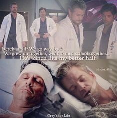 Derek shepherd and mark Sloan Grays Anatomy Tv, Greys Anatomy Memes, Grey Anatomy Quotes, Greys Anatomy Derek Dies, Mark Sloan, Tv Quotes, Movie Quotes, True Blood, Ncis