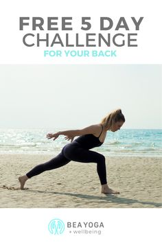 Yoga for Back Care; Free 5 day Challenge