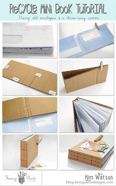 Fancy Pants Designs Studio - recycle mini book tutorial