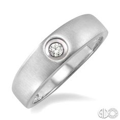 Round Diamond Ring in 10K White Gold