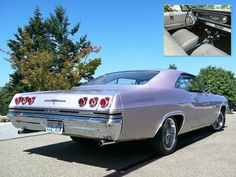 "1965 Impala in ""Evening Orchid"". Click through to read about the restoration of an ex-NASCAR '65 of the same color."