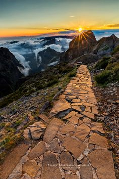 Path between Pico do Arieiro and Pico Ruivo, Madeira, by Miguel Nóbrega on 500px