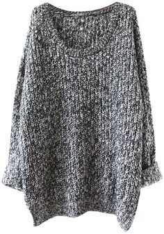Oversized Two-Colored Knitted Sweater
