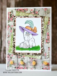 The Leaf Studio: Cat Lover's Hop - Cat with Fancy Hat
