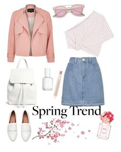 """""""Untitled #231"""" by fradoria ❤ liked on Polyvore featuring Mansur Gavriel, River Island, Topshop, Rosie Assoulin, Marc Jacobs and Essie"""