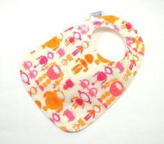 Baby bib / Robot Bib /Girl Robot / Teething bib by TextileTrolley, $10.00
