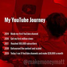 - Make Money On Youtube ideas #MakeMoneyOnYoutube Making Money On Youtube, Youtube Money, You Youtube, Free Youtube, Youtube Hacks, Youtube Secrets, Start Youtube Channel, Youtube Website, Digital Marketing Strategy