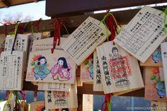 Cute ema at Ushiku Daibutsu. More about ema here: http://zoomingjapan.com/wiki/ema/